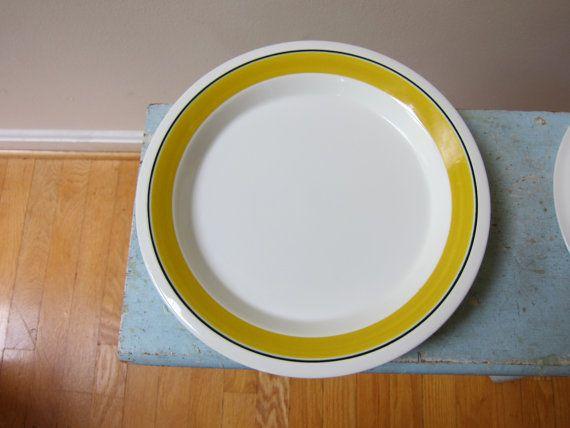 Arabia Finland Faenza 6 Rimmed Dinner Plates by TooArtfulForYou, $84.99