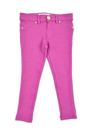 """Pantalon elastizado para niña, """"Jeggins"""", stretch para niña en color magenta."""