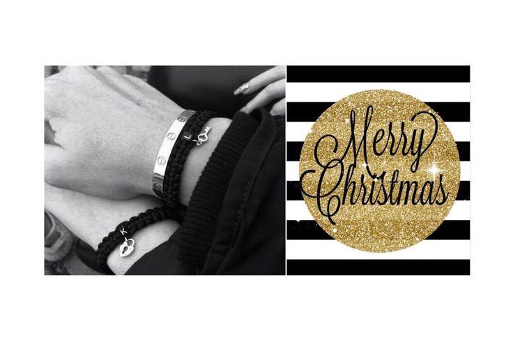 Handmade love pair bracelets with key and lock
