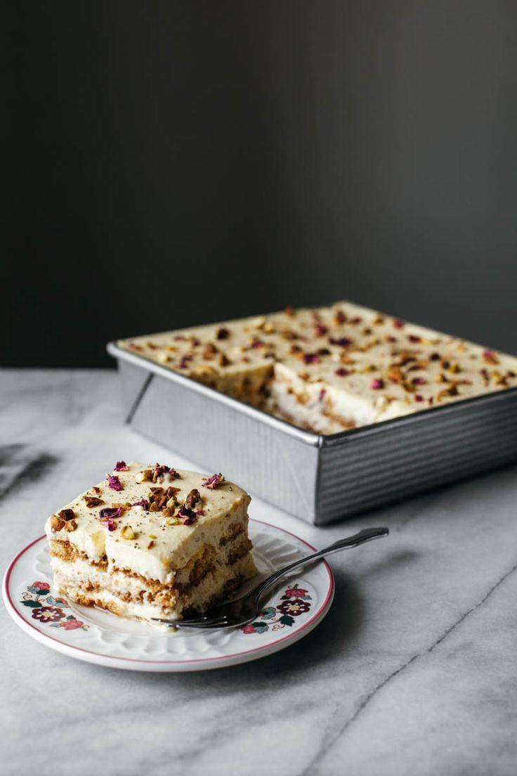 Amazing dessert recipe: Must try this Saffron, cardamom and rose petal tiramisu! An option to the classic one!