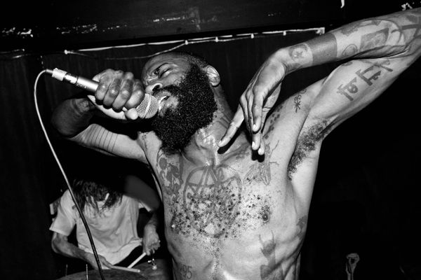 Zach Hill of Death Grips.