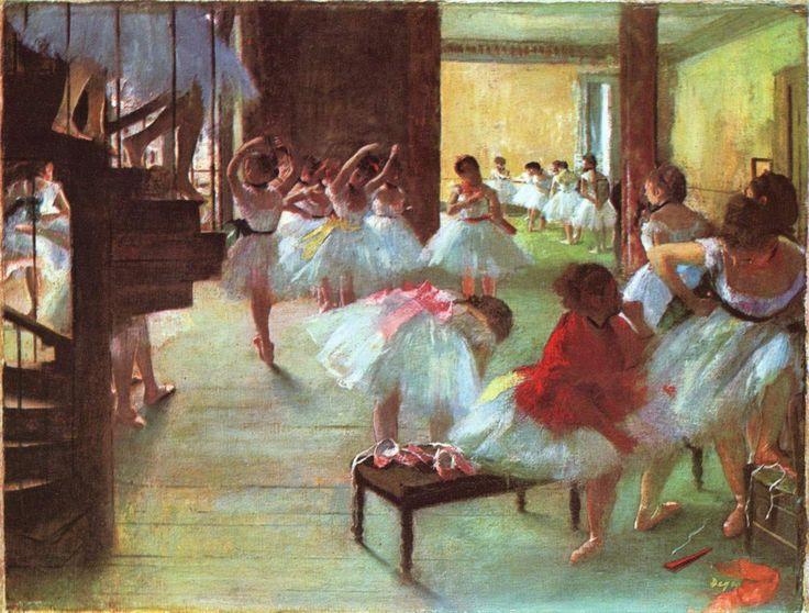 Ballet School, 1873 Edgar Degas - by style - Impressionism
