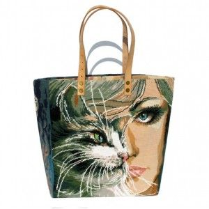 Sacs Cabas canevas vintage A French Tote Bag Collection, needlepoint tapestry http://leshopdemoz.com/leshop/