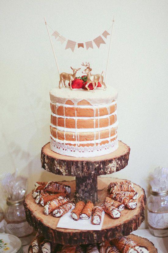 naked cake and cannoli