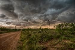Texas thunderstorm while stormchasing in Tornado Alley