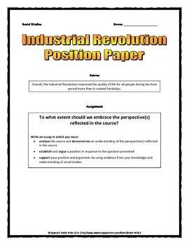 Second industrial revolution essay questions