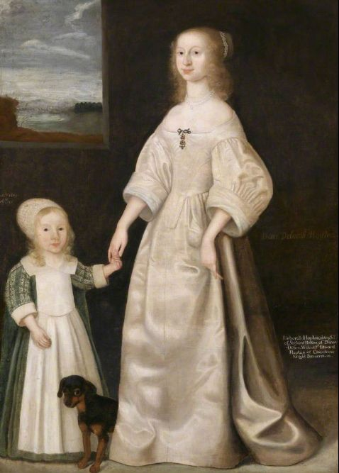 I love this dress. I love this fucking dress. That's what a 17th century woman would wear in hot weather, I think. Deborah Hopton and her son, 1649, by one James Gandy.