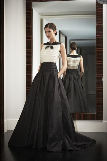 Carolina Herrera, Black and White, Lookbook, Classic, Night Collection, $2290 and $4490