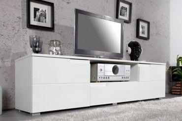 Design TV-Lowboard CLUB 165cm weiß High Gloss TV-Board