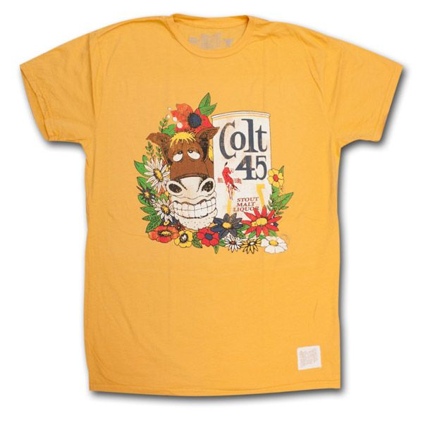 Colt 45 Cartoon Retro Vintage Gold T-Shirt