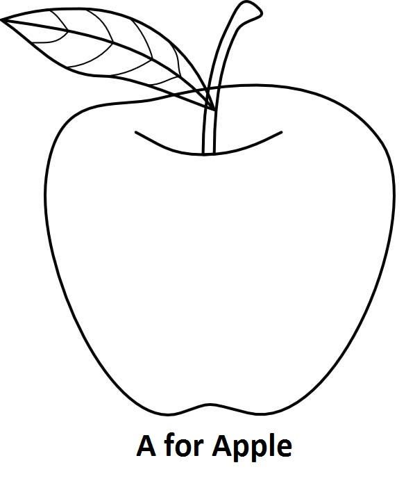 A For Apple Coloring Book Apple Coloring Pages Fruit Coloring Pages Cinderella Coloring Pages