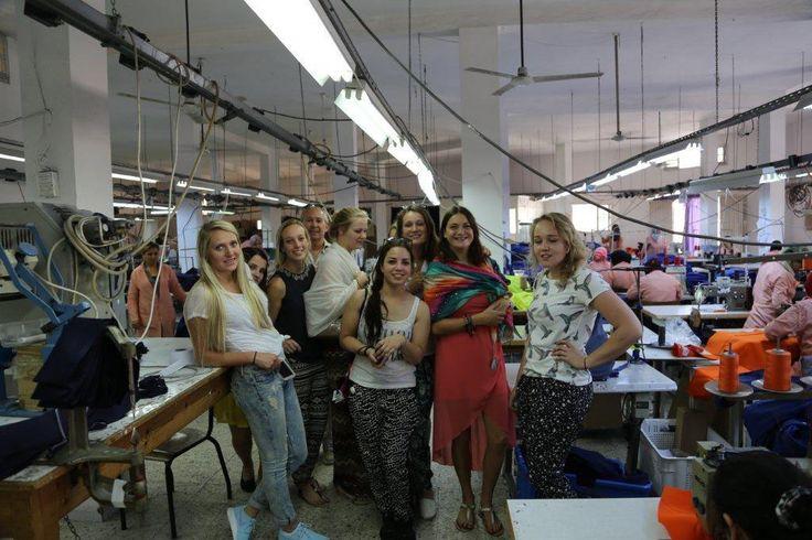 TMO Inkoopproject    Excursie Turkije, Macedonië en Tunesië    Studenten in Fabriek in Tunesië