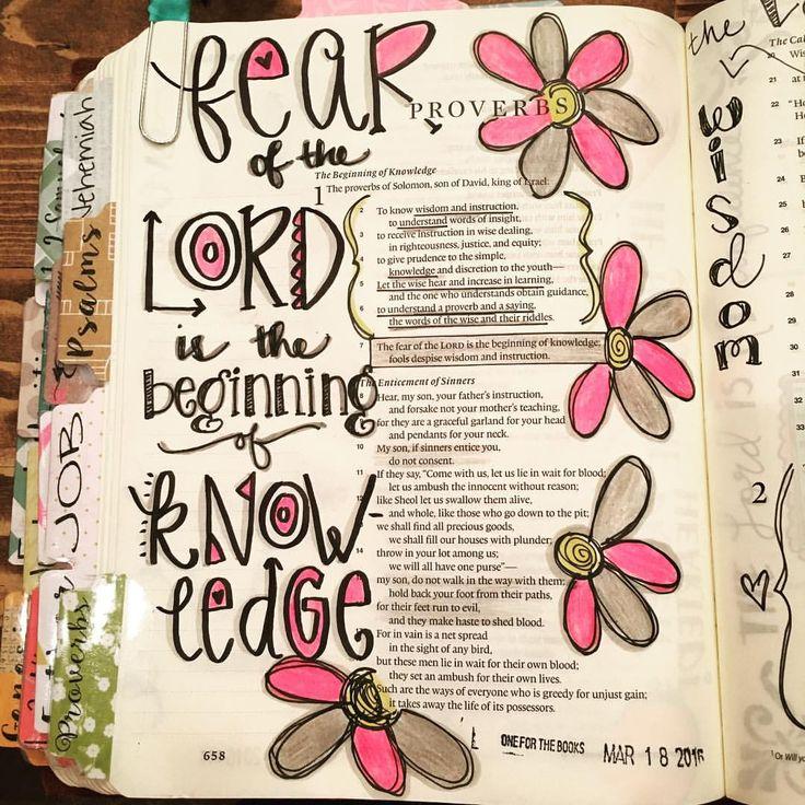 Proverbs 1:7  #thefearofthelordisthebeginningofknowledge #illustratedfaith…