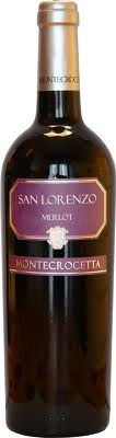 San Lorenzo - A bright red wine, has soft fragrant notes typical of the merlot grape. Dry and full of flavor, it has a good body with smooth final sensations in the mouth.  A versatile wine, it can be drunk with most dishes. Good with cold cuts, white and red meats. Serve at 18°C. Alc: 12% - Comp: 100% Merlot - Shelf life: 4 to 5 years.