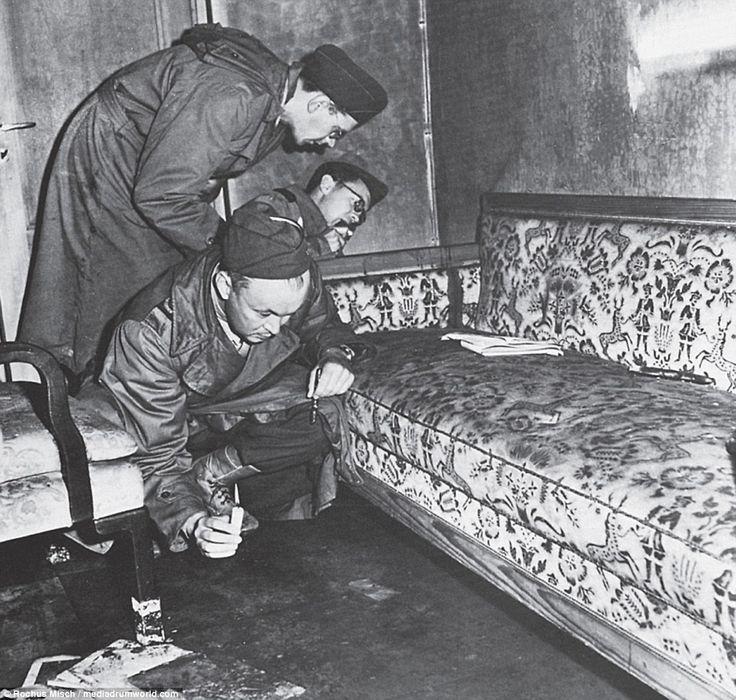 Image result for Pinterest Sofa in the Führerbunker inspected       by war correspondents