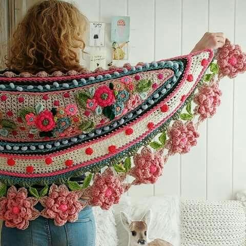 No me lo pondría ni loca, paero es una obra de arte. Adinda's world crochet