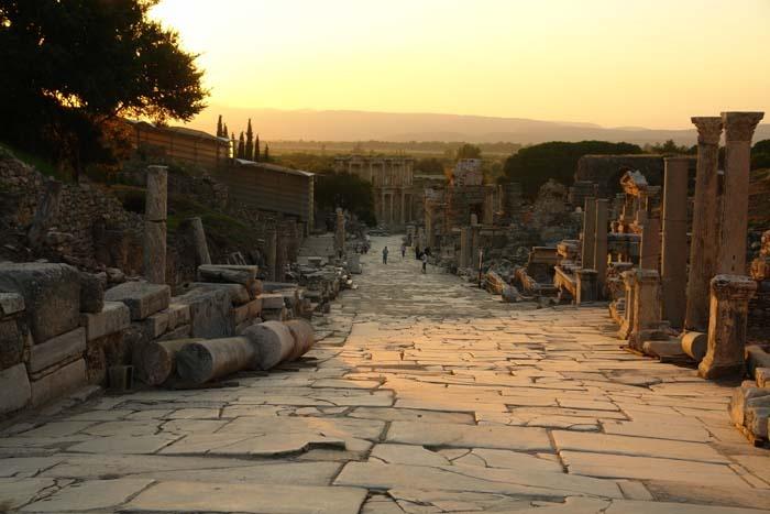 Free range in the Mediterranean - Ephesus in Kusadasi. www.annabel-langbein.com