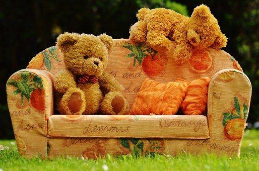Beer, Sofa, Bears, Zoete, Cute