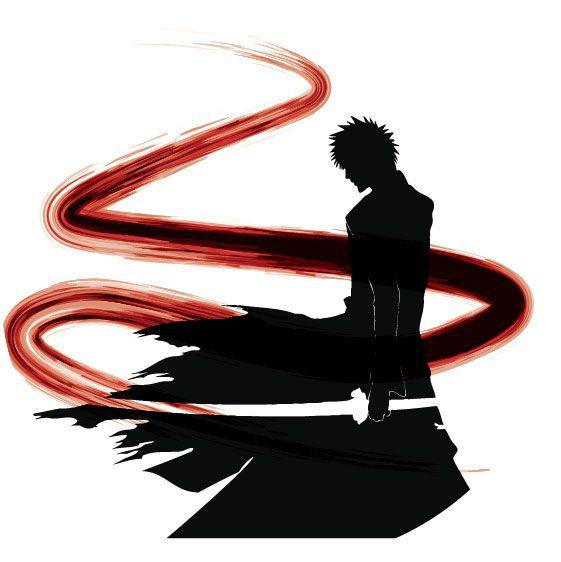 Bleach Ichigo Silhouette by marekmaurizio.deviantart.com on @deviantART