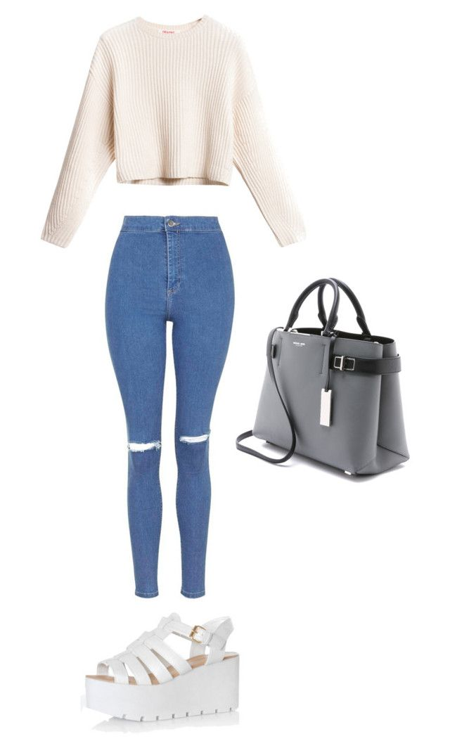 """Casual fall outfit"" by sharel-njock on Polyvore featuring Topshop, Glamorous and Michael Kors"