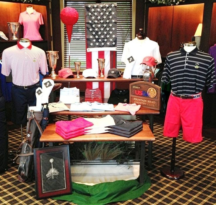 Visual Merchandising. Golf Display. US Open. Fountain Head Country Club