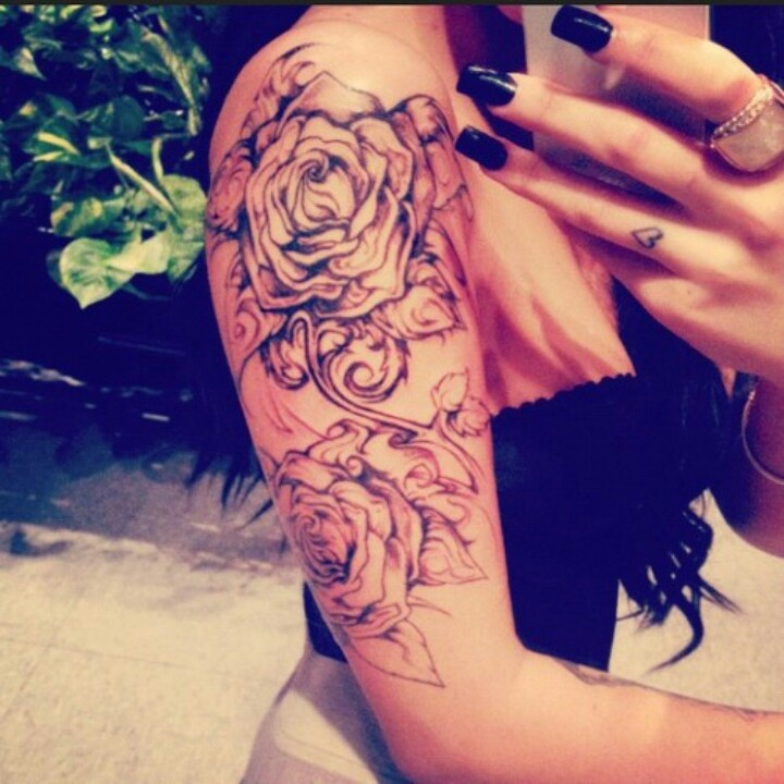 arm tattoo shoulder tattoo rose tattoo amazing tats pinterest tattoo shoulder shoulder. Black Bedroom Furniture Sets. Home Design Ideas