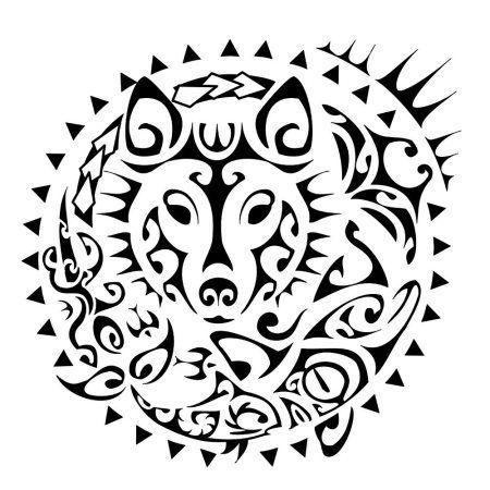 lobo wolf-sun-tattoo