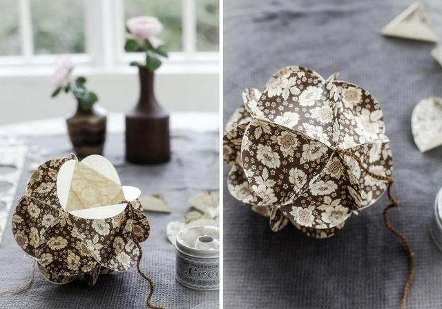 Mokkasin: att göra en pappersboll.