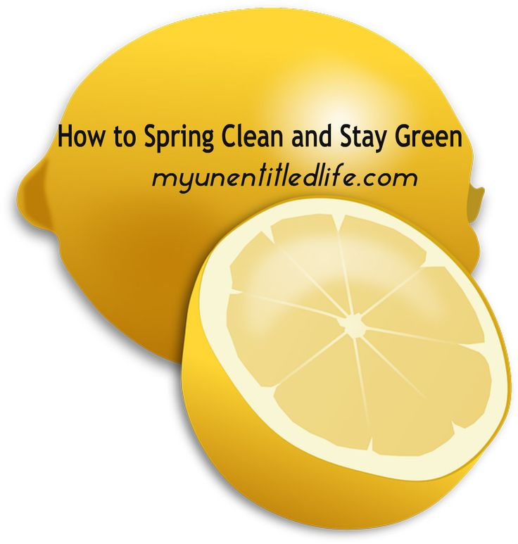 How to Spring Clean and Stay Green with homemade cleaner recipes