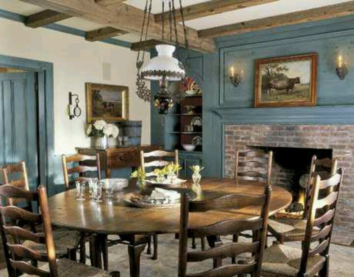 Rustic Round Dining Table For 8 129 best 18th century homes images on pinterest | primitive decor