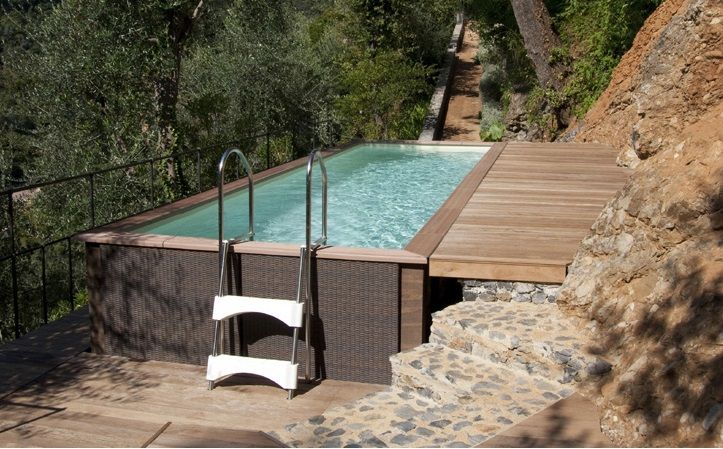 8 best schwimmbecken images on pinterest home ideas play areas and small swimming pools. Black Bedroom Furniture Sets. Home Design Ideas