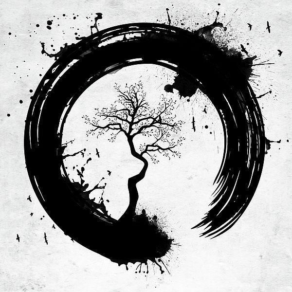 Japaneese Circle Tattoo Idea Circle Tattoo Circle Tattoos Zen Tattoo