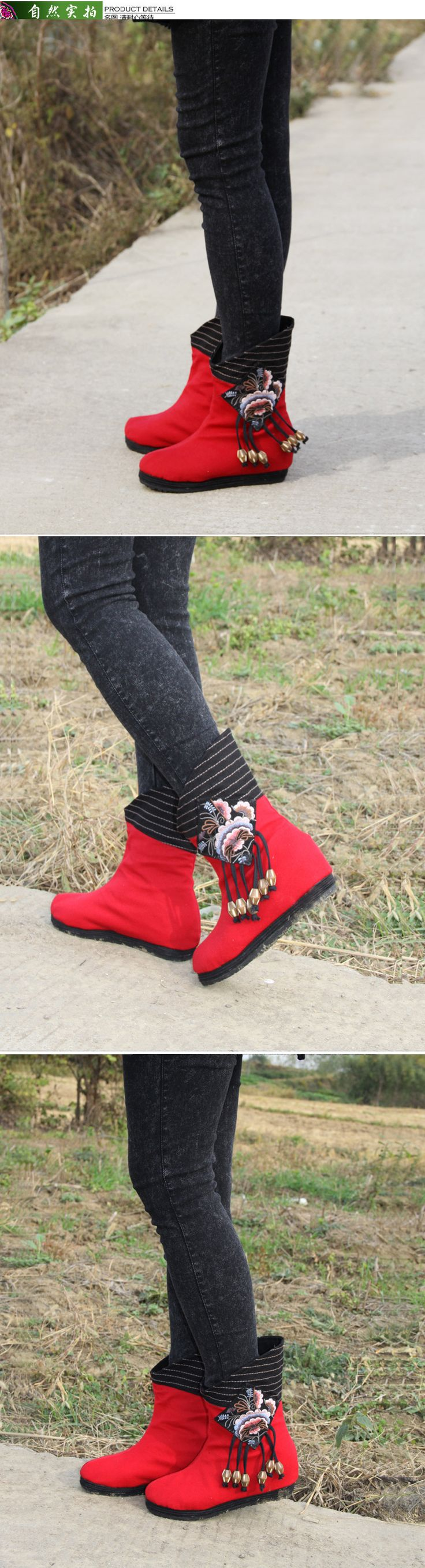 Plate forme Fringe Bottes Femmes Automne Hiver Vintage Bottes Slip on Chaussures Toile Chaussures Appartements Occasionnels Chaussures dans Femmes de Bottes de Chaussures sur AliExpress.com | Alibaba Group