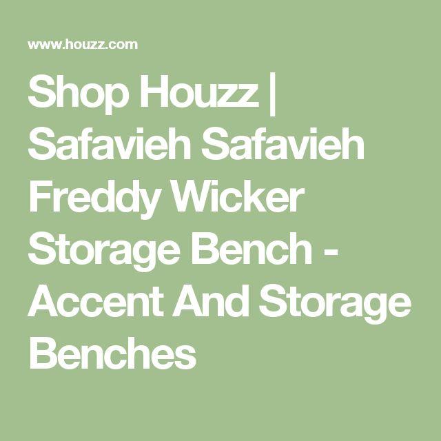 Shop Houzz | Safavieh Safavieh Freddy Wicker Storage Bench - Accent And Storage Benches