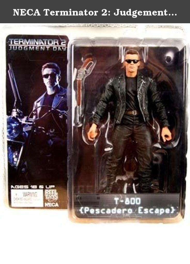 NECA Terminator 2: Judgement Day 7 Inch Series 1 Action Figure T-800 Pescadero Escape. Figurine articulée taille env. 18 cm avec socle logo et accessoires, en emballage blister individuel.