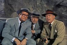 George Reeves, John Hamilton, and Robert Shayne, in the Adventures of Superman.