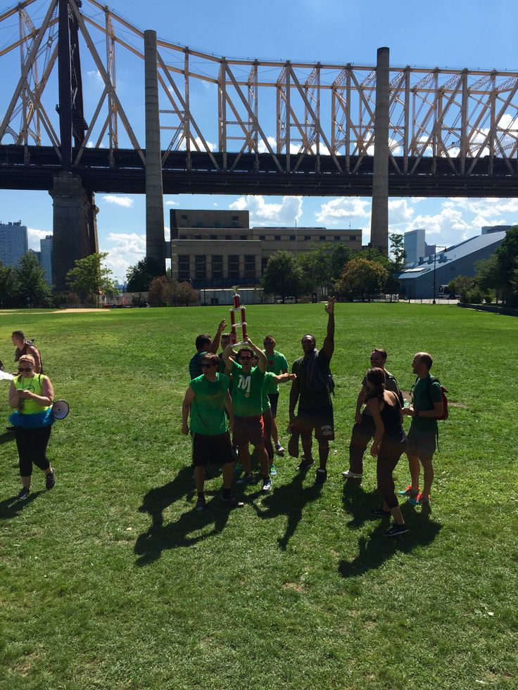 NYC Field Day: Congrats to the green team for taking home 1st place