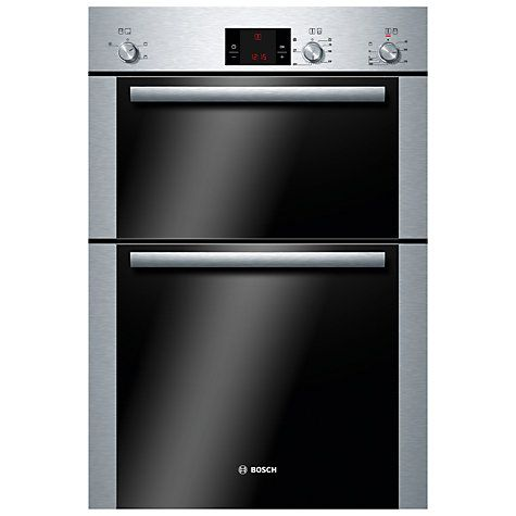 buy bosch double electric oven brushed steel from our built in ovens range at john lewis
