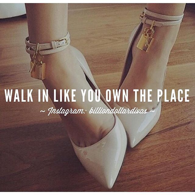 Instagram media billiondollardivas - Chin up, Queen. Your crown is falling.  Walk with your head up high & your heels even higher. #BillionDollarDivas