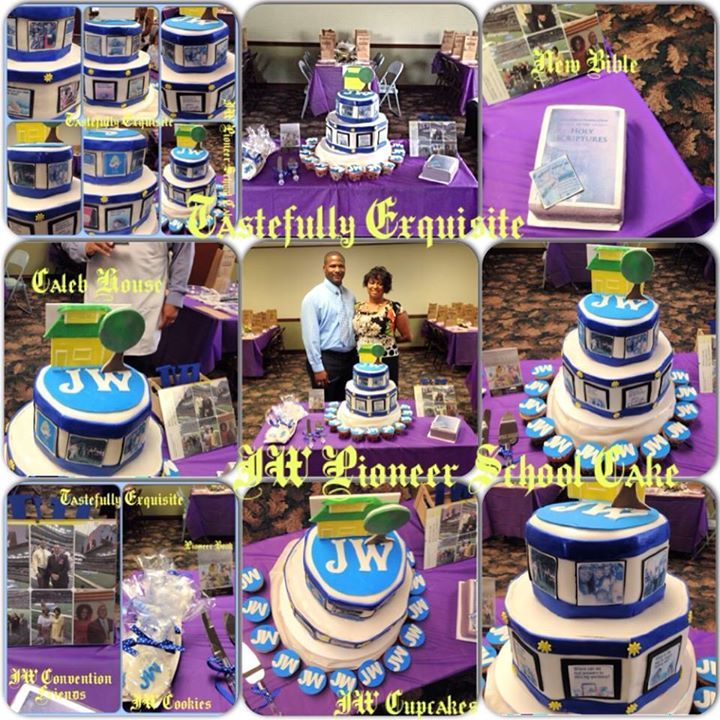 JW Pioneer School Cake Hi. I am a sister in Killeen, Texas. My husband and I made this cake for our brothers and sisters attending What an honor to do. All Edible elements Bible, tracts, JW cookies &...