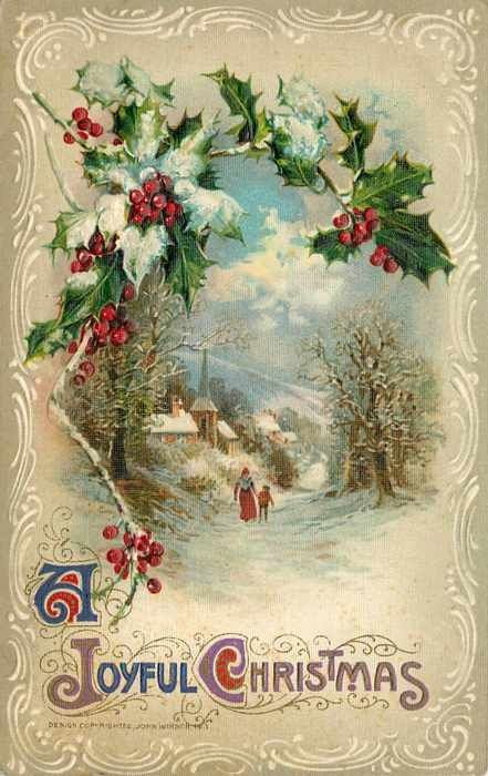 Vintage Christmas Card. My Grandmother saved many of these. I used to love looking through them.