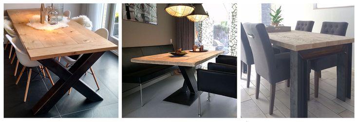 Hou jij van een robuuste look als het om tafels gaat? Dan zijn tafels met stalen onderstellen helemaal iets voor jou!