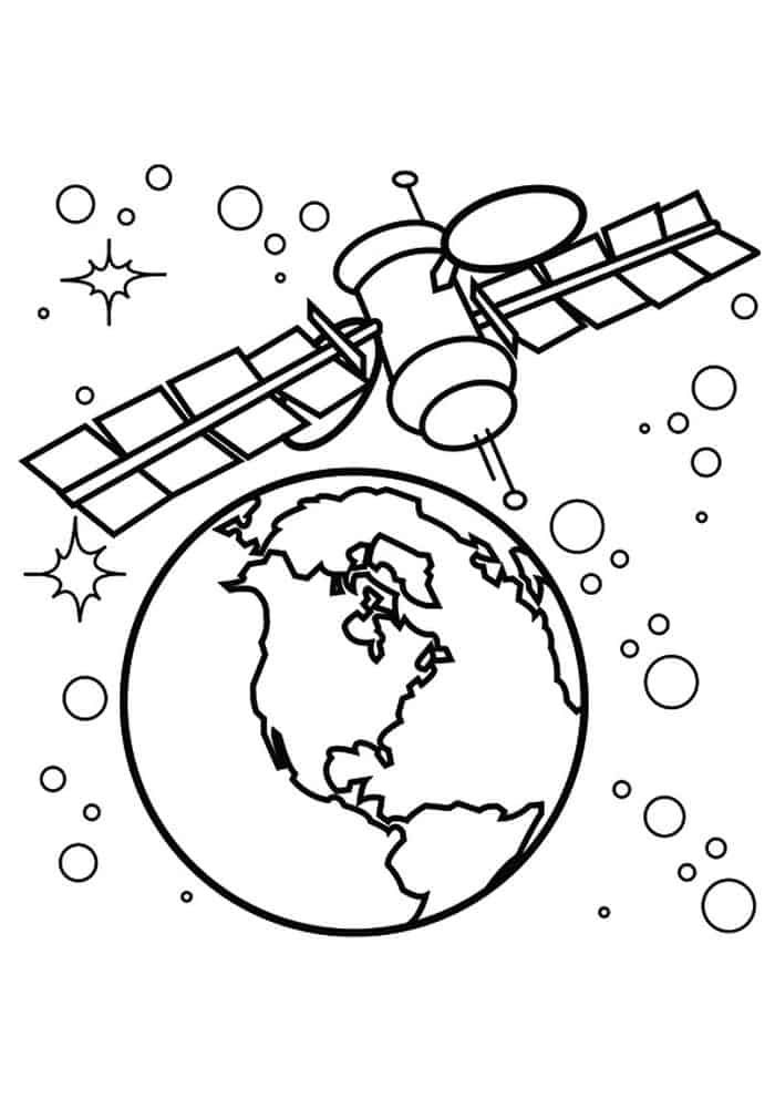Solar System Coloring Pages For Kids In 2020 With Images Space