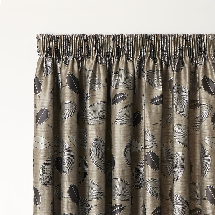 Bramley Driftwood - Readymade Lined Pencil Pleat Curtain - Curtain Studio buy curtains online