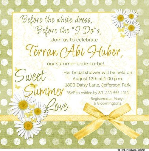 Summer is the season when the earth decorates itself with flowers, and bridal shower inspiration abounds with the bride's favorite flower or a bloom in her wedding decorations. Here are some unforgettable summer wedding shower themes, along with invitation suggestions for this lovely season...