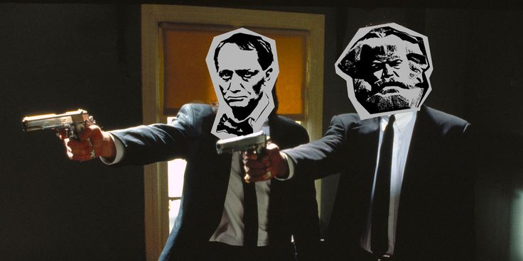 Charles&Karl  They are definitely not from pulp fiction. #hlava #baudelaire #marx