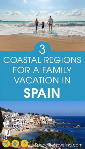 Travel tips for 3 beautiful coastal regions in Spain. Spain is a great country for any type of traveler but because it is such an easy country to travel in with so many facilities for kids it is an especially great destination for family travel. Check out information about the Costa Brava, Costa Dorada and the Costa Verde to choose your next travel destination. Travel tips for the best family vacations in Spain. #familytravel #travelSpain #CostaBrava #CostaDorada #CostaVerde #travelwithkids