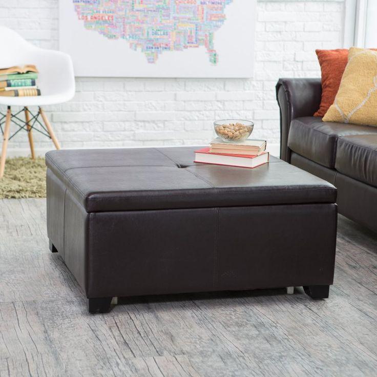 Belham Living Corbett Square Coffee Table Storage Ottoman - RH140808