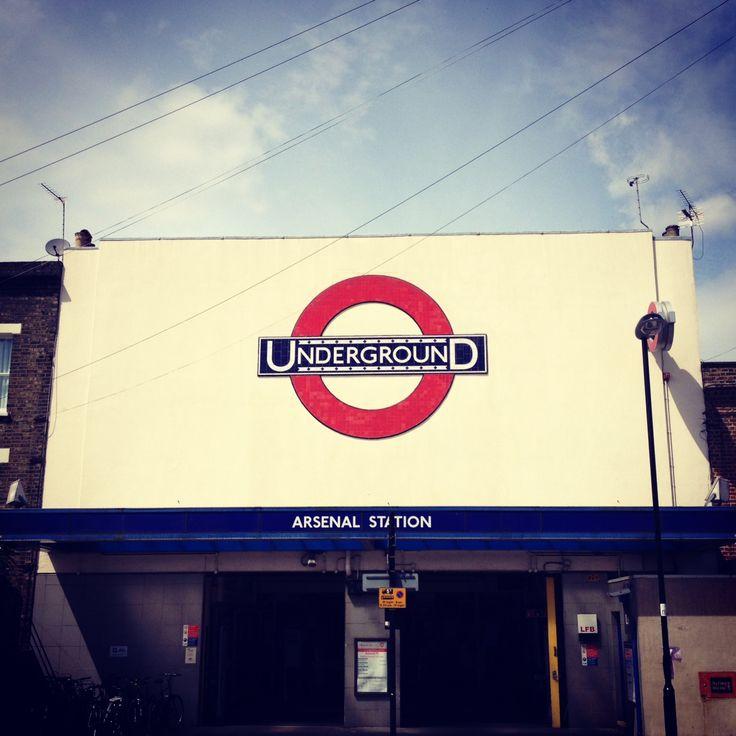 Arsenal Tube station.  I need to return here