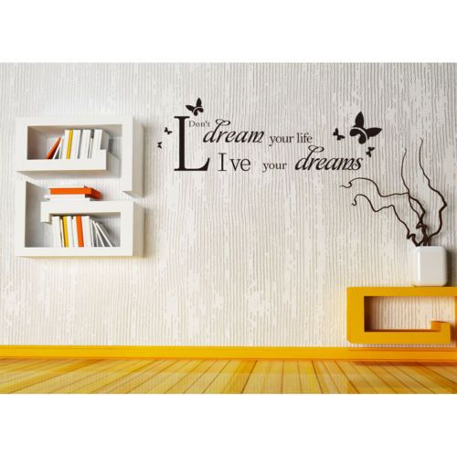 New-Live-Your-Dreams-Inspiring-Quote-Removable-Wall-Sricker-Home-Decor-Vinyl-Art